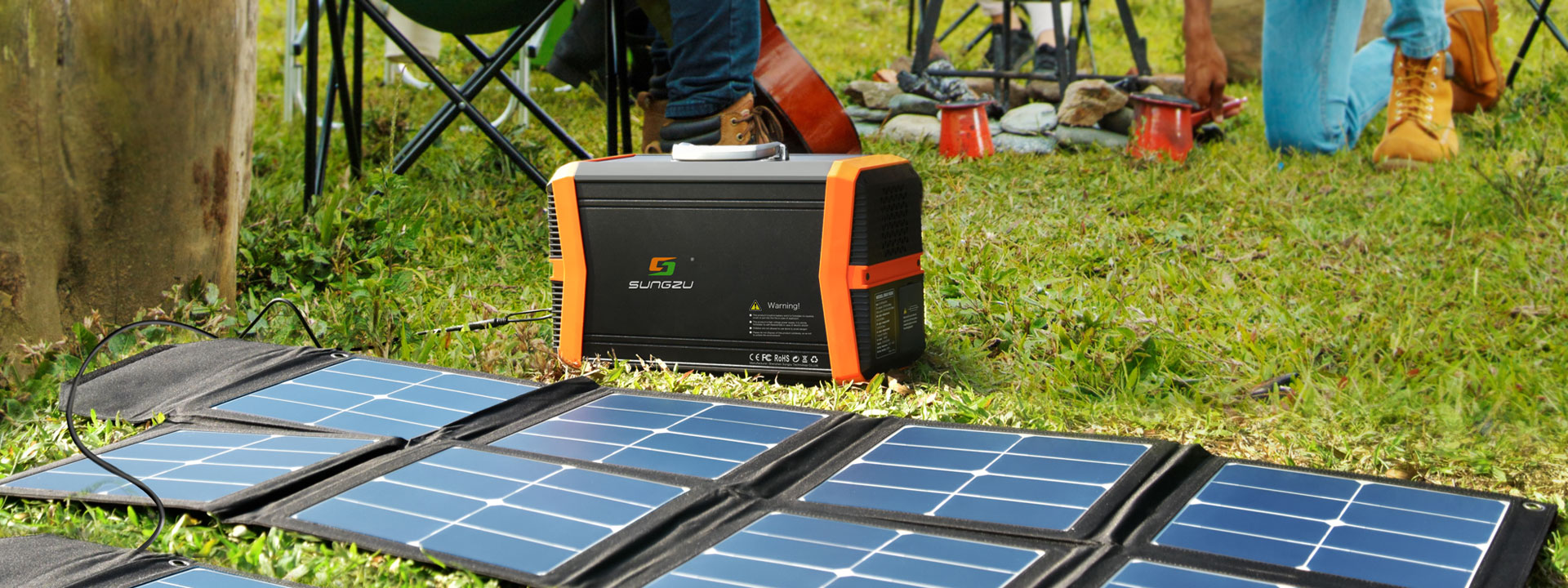 1000W solar charger storage bank