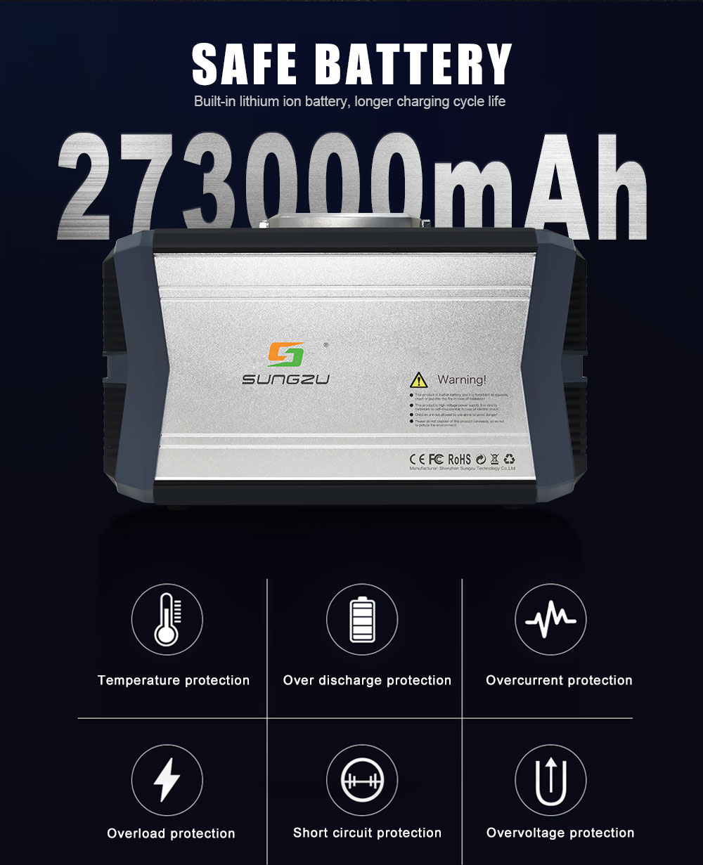 SUNGZU 1000W SAFE BATTERY 273000MAH